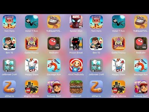MightyMicros,HappyGlass,Ben10,TomHero,Subway,Minecraft,Slither,JailbreakCraft,RedBall,Troll TV Shows