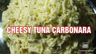 HOW TO COOK CHEESY TUNA CARBONARA BY: JULIEHENSHAWVLOGS