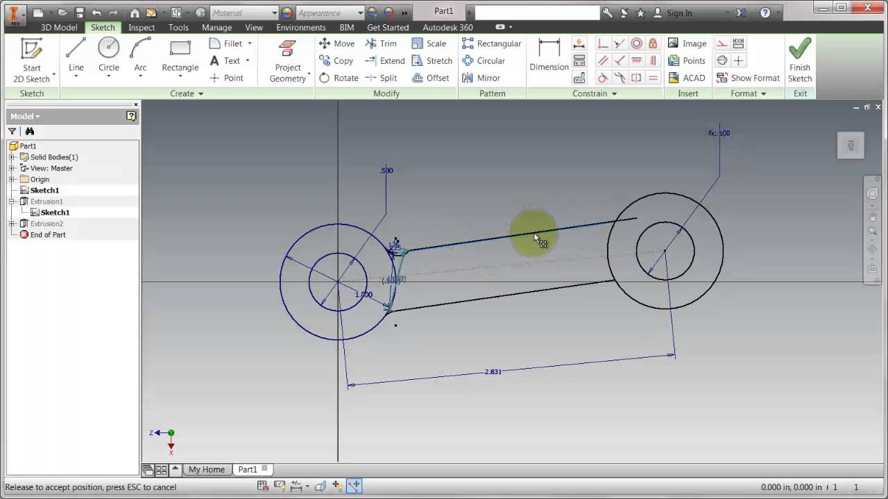 how to create worm in autodesk inventor