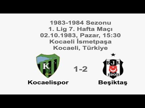 Kocaelispor 1-2 Beşiktaş 02.10.1983 - 1983-1984 Turkish 1st League Matchday 7   Farklı bir pencereden futbol