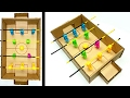 How To Make A Soccer Table || Foosball
