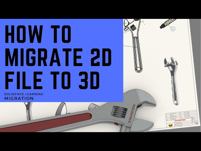 How to Migrate 2D file to 3D model using 3D design software