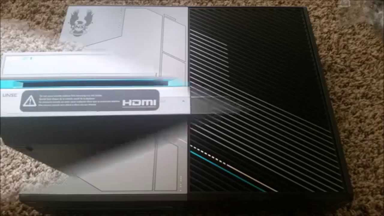 Unboxing Xbox One 1TB Console Halo 5 Guardians Limited