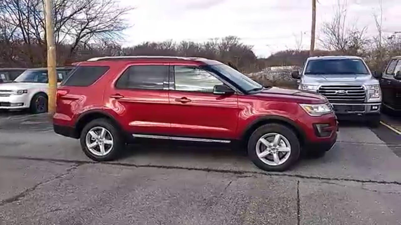 Ruby Red 2016 Explorer Xlt 4wd 3 5l 202a 2nd Row Buckets Liftgate Nav Blis You