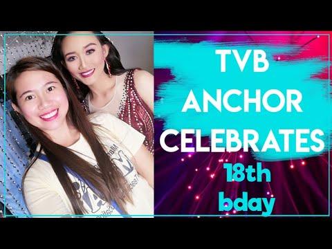 TVB anchor celebrates