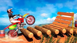 Bike Stunts - 3D Stunt Bike Game - Gameplay Android game - Bike Stunts Racing Free Game