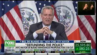 De Blasio Announces Proposal to Cut $1 Billion from NYC Police Department -- And Make NYC Unlivable