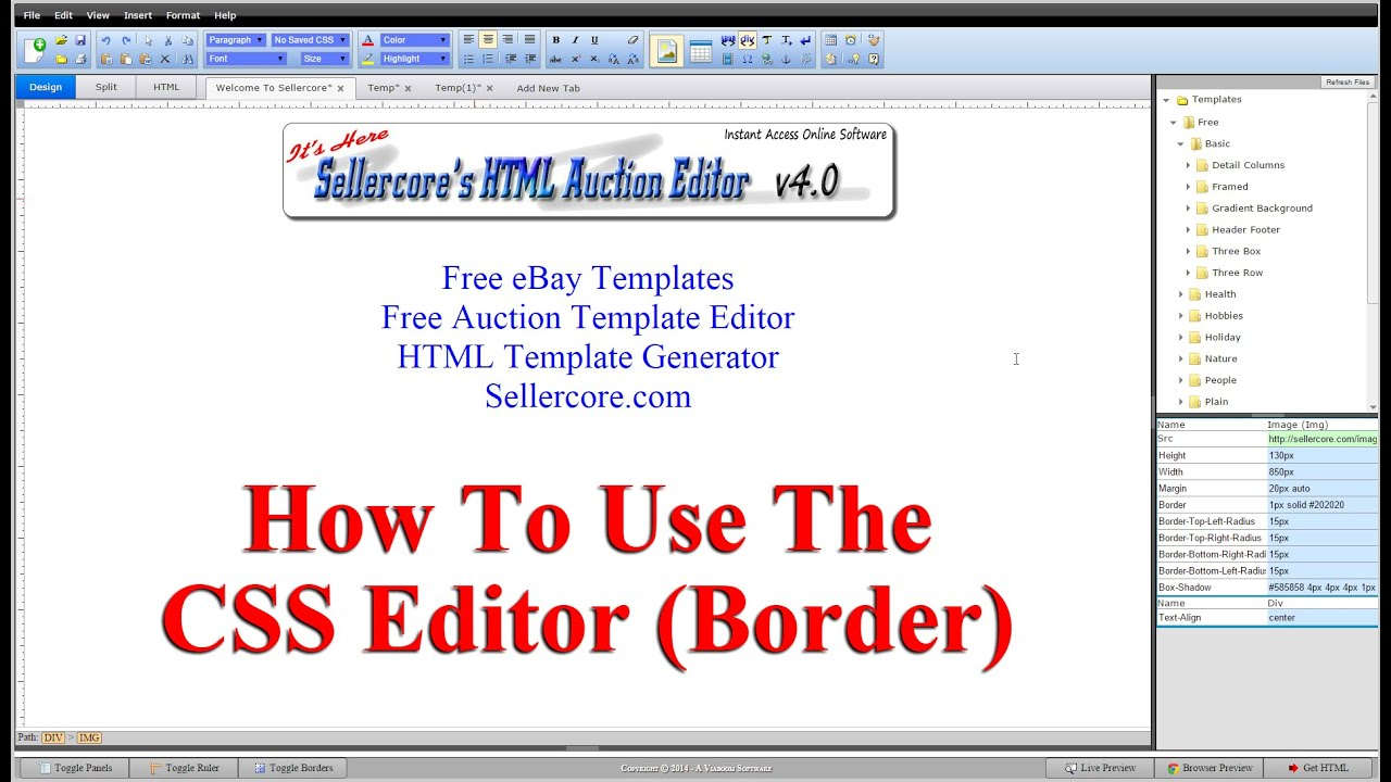 How to make css border effects when generating free ebay templates how to make css border effects when generating free ebay templates maxwellsz
