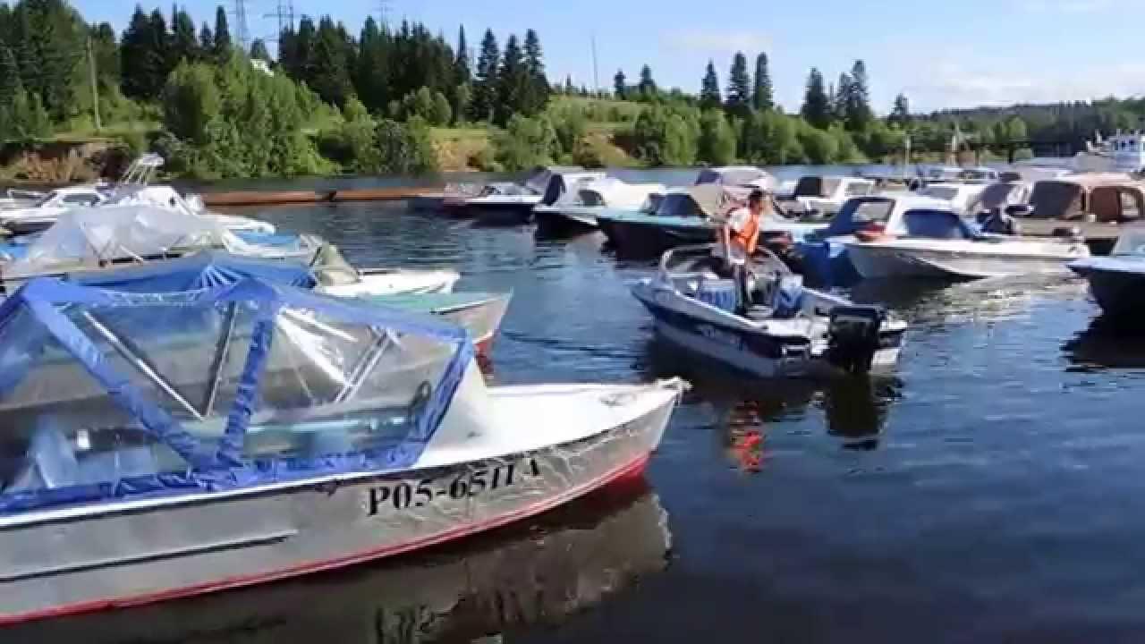 Поход на катере из Питера в Онежское Озеро за лососем. 3 серия .