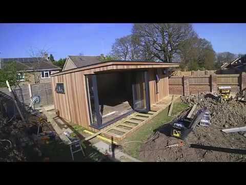 Garden room Build time-lapse