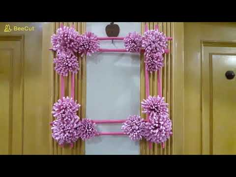 Diy paper flower wall hanging /Simple and beautiful wall hanging/Paper Craft