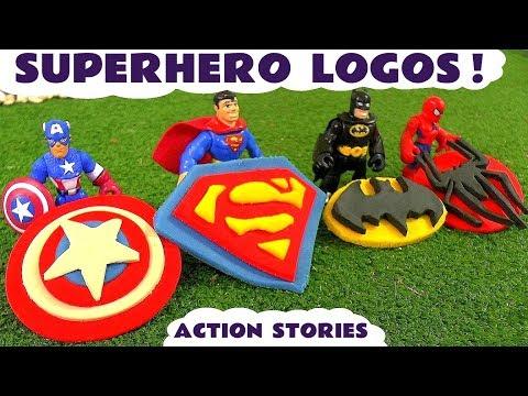 Superhero Spiderman Batman & Superman Playdoh Logo Surprise Thomas The Tank Engine  Story TT4U