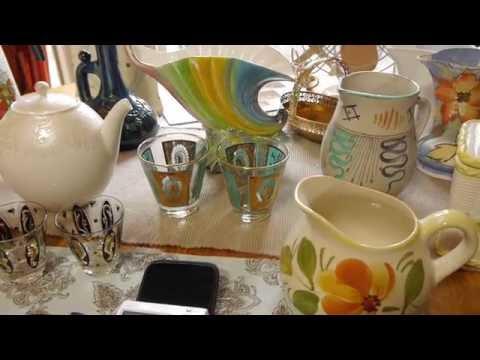 eBay reselling garage sales thrift store estate sales haul - MCM Barware Beatles record - June 14th