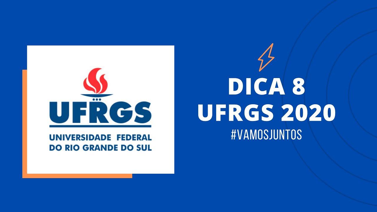 Dica 8 - Física UFRGS 2020