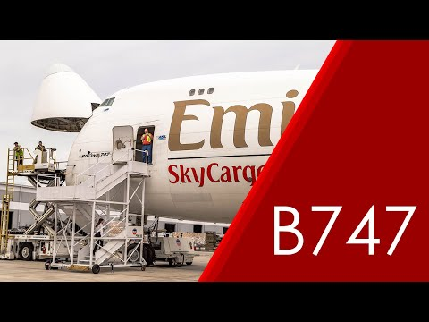 Emirates SkyCargo 747-400ERF Nose Loading