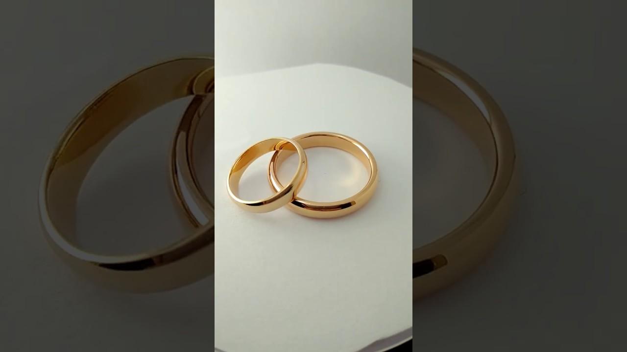 Гладкое обручальное кольцо 4 мм - YouTube 42a8d3649bd
