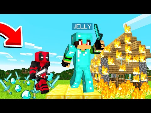Playing On A HARDCORE Minecraft Server! (Die = Banned)