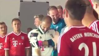 Bayern Munich goalkeeper Tom Starke accidentally strikes new boss Pep Guardiola
