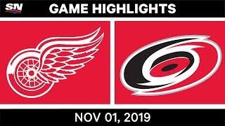 NHL Highlights   Red Wings vs Hurricanes – Nov. 1, 2019