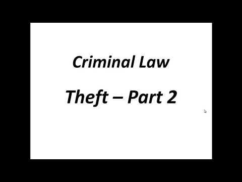 Criminal Law Theft Sec 378 Part 2