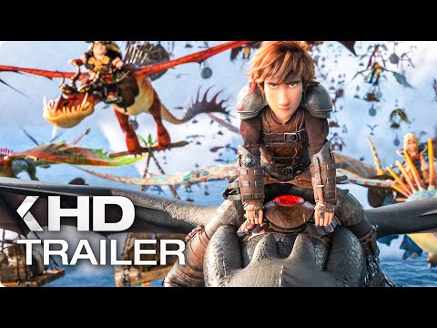 HOW TO TRAIN YOUR DRAGON 3 - 8 Minutes Trailers & Clips (2019)