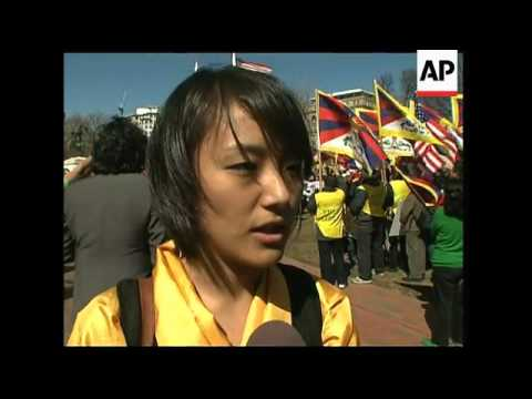 Protest on 50th anniversary of the Tibetan uprising