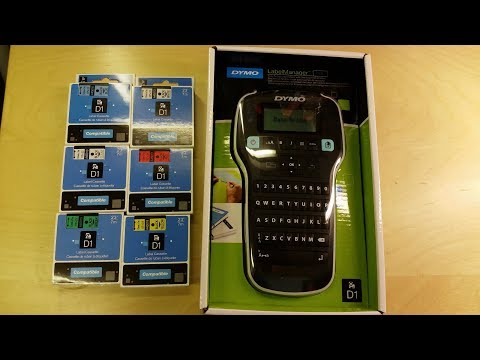 Dymo LabelManager 160 Handheld Label Printer Unboxing & Demo - Easy To Use Label Maker