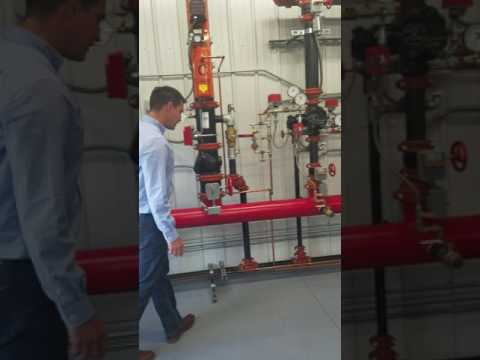 Fire protection wet system riser configuration