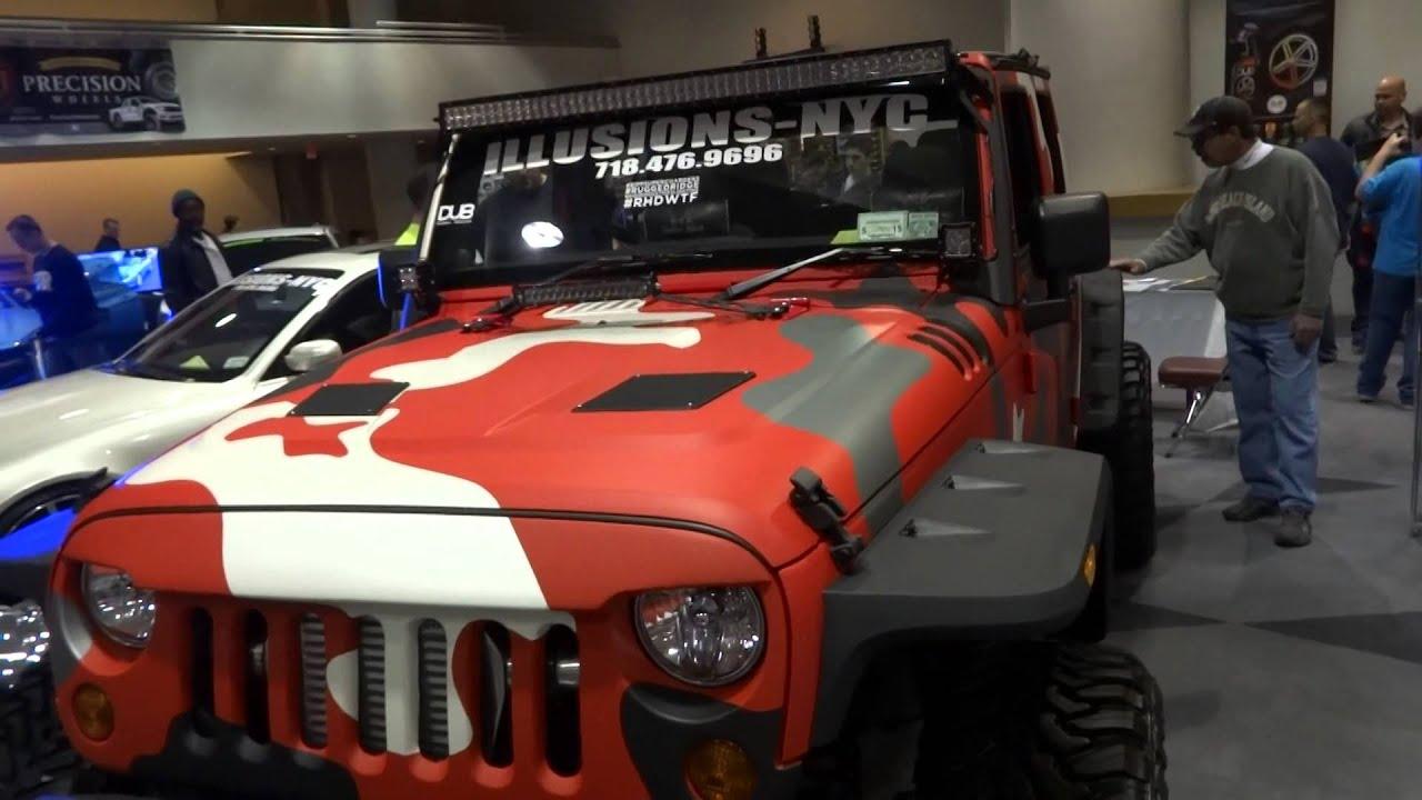 NY Auto Show 2014 DUB Show The Camo Jeep Pt 1 YouTube