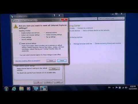 Windows 7 - How to fix and reset Internet explorer