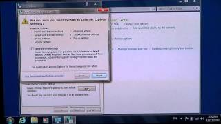 windows 7 how to fix and reset internet explorer