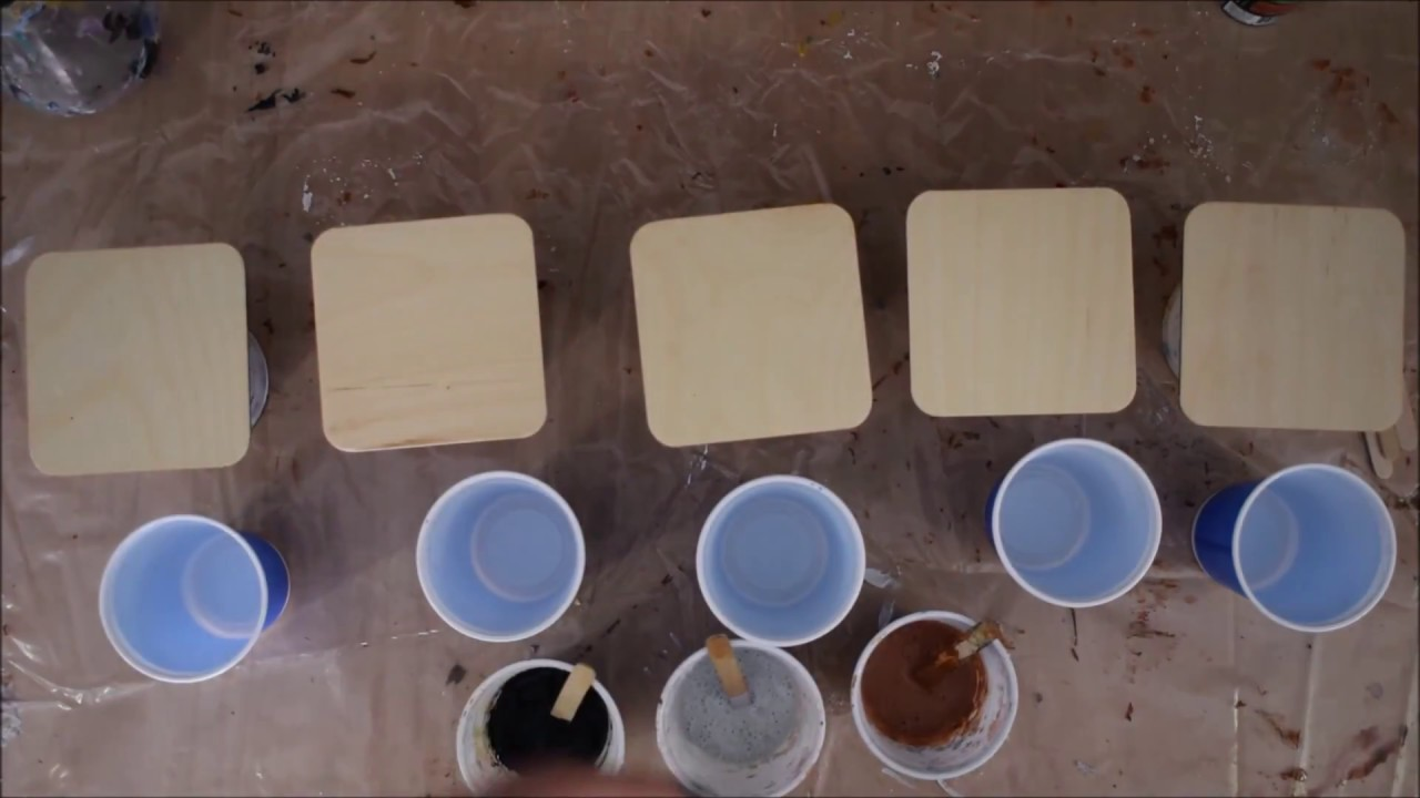 How to make your own coasters golden fluid acrylics for How to make fluid acrylic paint