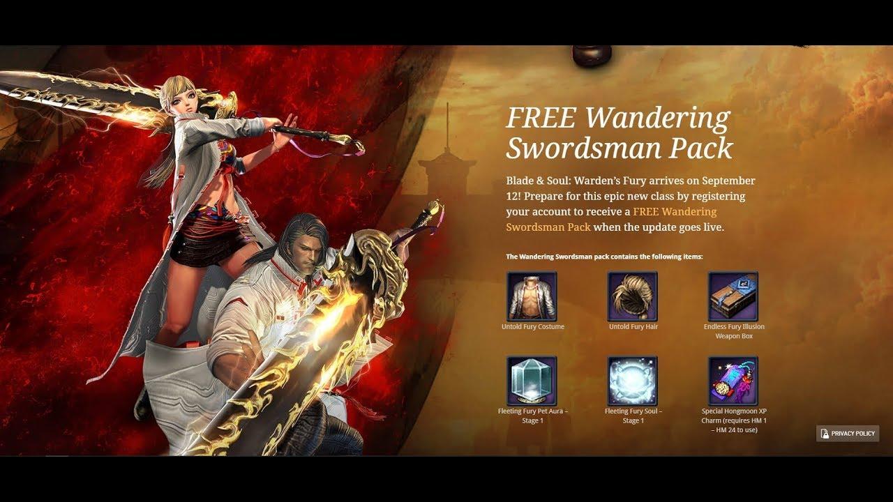 Blade & Soul NA Wandering Swordsman Pack