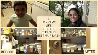 A DAY IN MY LIFE BEST DIY MASK FOR HAIR SMOOTHENING DIY KITCHEN ORGANIZATION KITCHEN TIPS