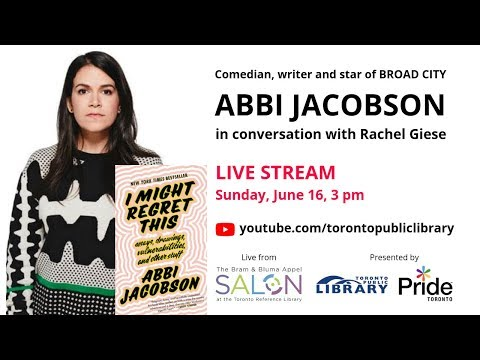 LIVE STREAM - Abbi Jacobson In Conversation With Rachel Giese