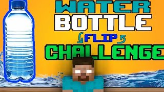 Monster School : SUPER BOTTLE FLIP CHALLENGE - Minecraft Animation