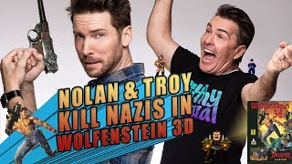 Nolan North and Troy Baker Kill Nazis in Wolfenstein 3D