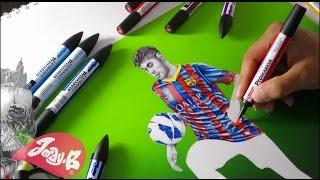 How to draw Neymar Jr ⚽️ Barcelona F.C