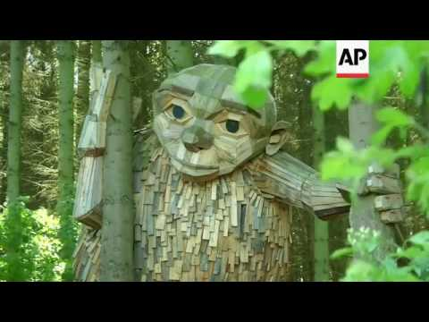 Mysterious giants hidden in Copenhagen woods