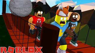Roblox - TRAPPING AND TRIPPING DONUT AND BABY DUCK - Death Run adventures