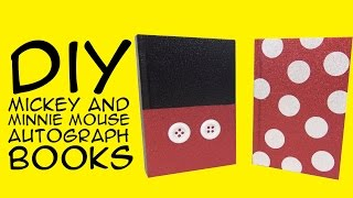 Disney DIY: Mickey and Minnie Mouse Books: for Disney Fans - A GeekyMcFangirl Tutorial