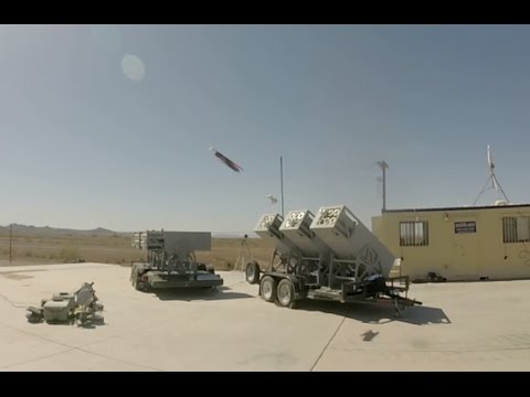 Watch the Navy's LOCUST launcher fire a swarm of drones