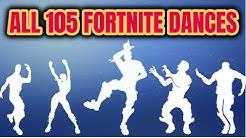 ALL 105 Fortnite Dances [Season 1 to 6]