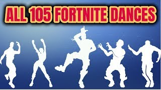 ALL 105 Fortnite Dances [Season 1 to 6]