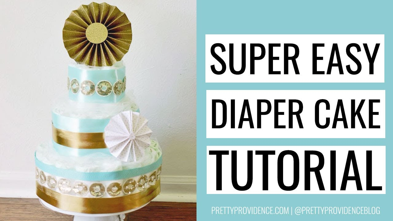How To Make A Whale Diaper Cake