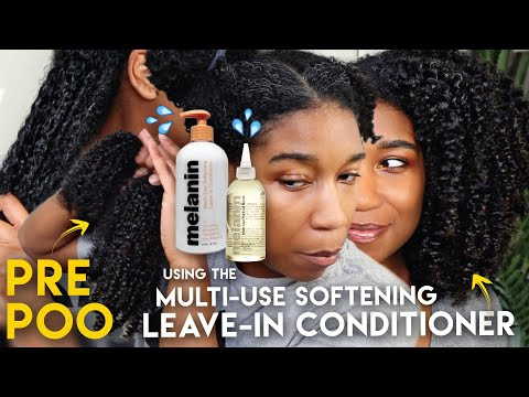 PRE POO w/ Melanin Haircare Multi-Use Softening Leave In Conditioner + Multi-Use Pure Oil Blend