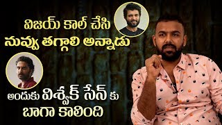 Tharun Bhascker clarifies on controversy with Vishwak Sen