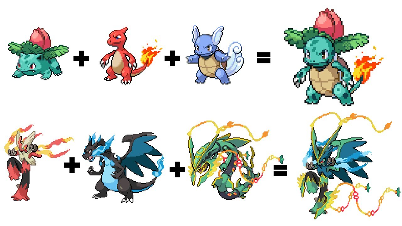 Pokemon Evolutions That You Wish Existed! Legendary Pokémon Fusion Part 15
