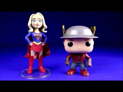 Supergirl TV Series Rock Candy Figure Flash TV Series Jay Garrick Funko Pop Figure Unboxing Haul