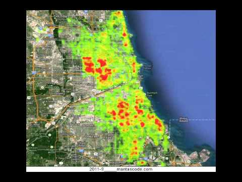 Chicago Open Data Crime Heatmap 2008 - 2013 - YouTube